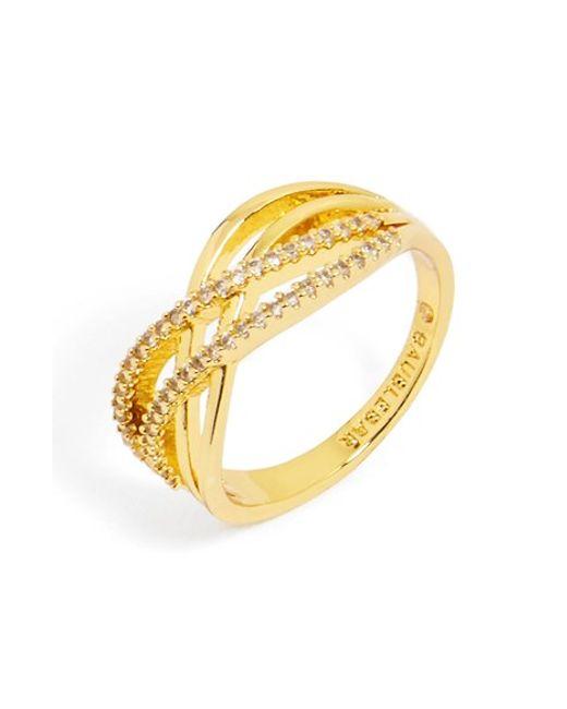 BaubleBar | Metallic 'luda' Pave Crystal Ring | Lyst