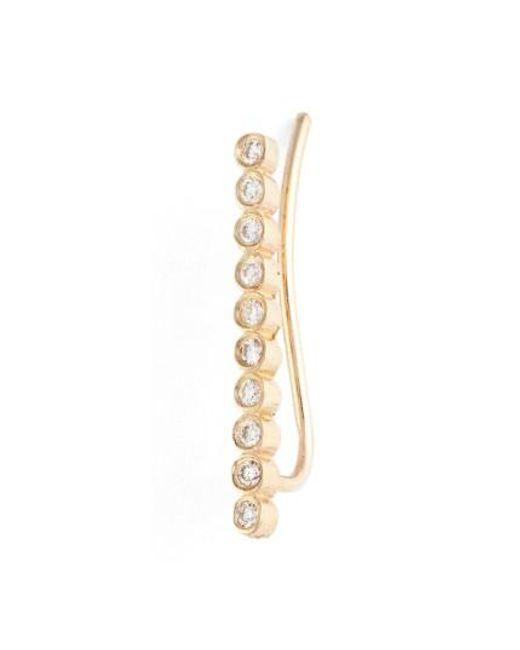 Zoe Chicco | Metallic Diamond Bezel Ear Crawler | Lyst