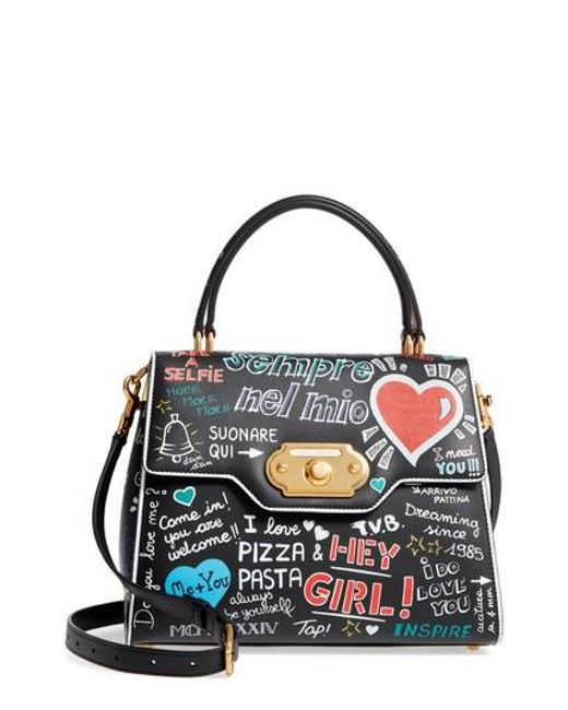 Marketable Cheap Price Sale With Credit Card Dolce & Gabbana Welcome graffiti logo tote Outlet Store Affordable 746CB