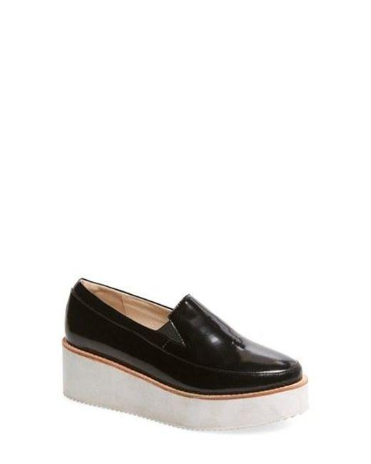 Sol Sana | Black Tabbie Platform Wedge Loafer | Lyst