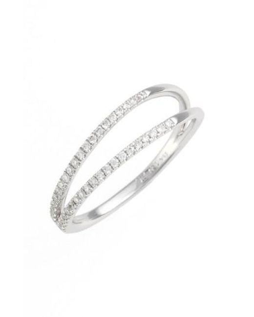 Bony Levy | White Diamond Two Row Ring (nordstrom Exclusive) | Lyst