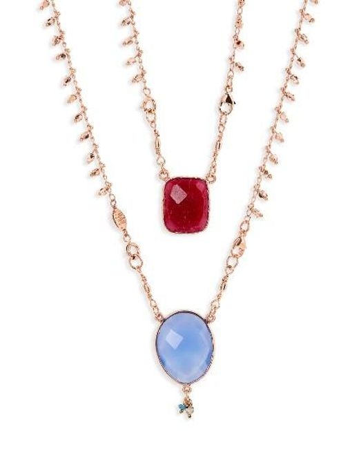 Gas Bijoux   Multicolor Scapulaire Convertible Semiprecious Stone Necklace   Lyst
