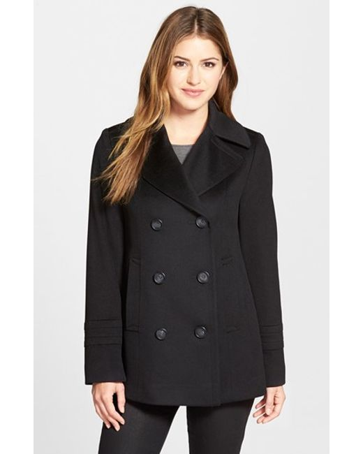 Fleurette | Black Loro Piana Wool Peacoat | Lyst