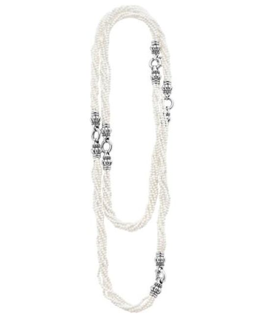 Lagos | 'black & White Caviar' Agate Multistrand Necklace | Lyst