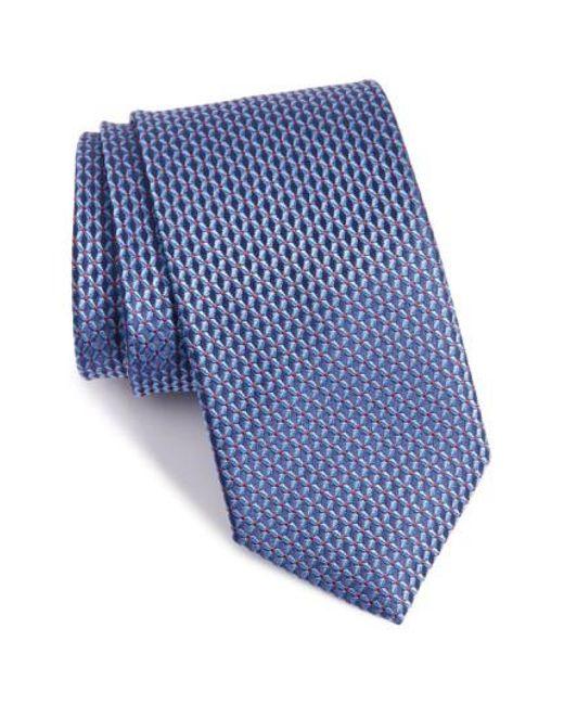 John W. Nordstrom   Blue John W. Nordstrom 'grayson Mini' Silk Tie for Men   Lyst