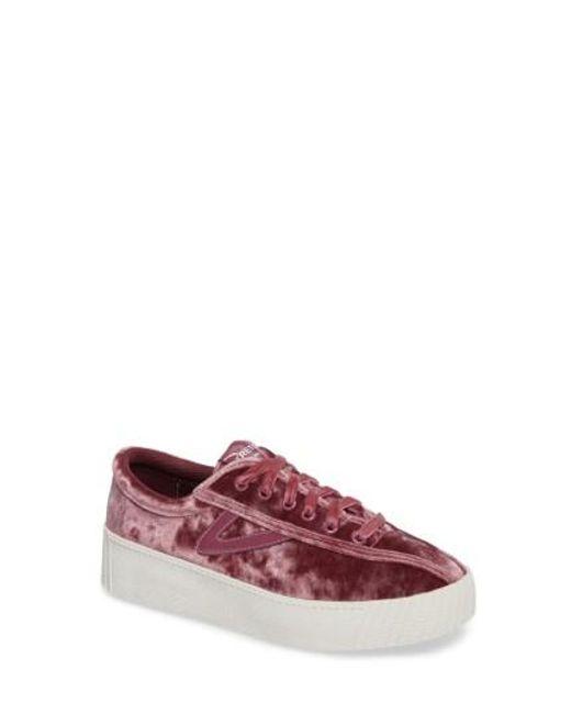 Tretorn | Pink Bold Perforated Platform Sneaker | Lyst