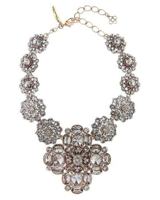 Oscar de la Renta | Metallic Jewel Collar Necklace | Lyst