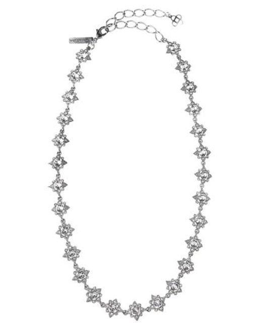 Oscar de la Renta   Metallic 'delicate Star' Swarovski Crystal Collar Necklace   Lyst