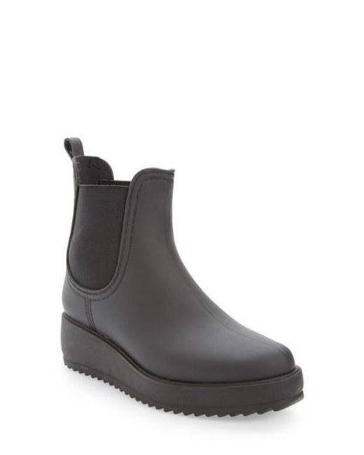 Jeffrey campbell Hydro Chelsea Platform Rain Boot in Black | Lyst
