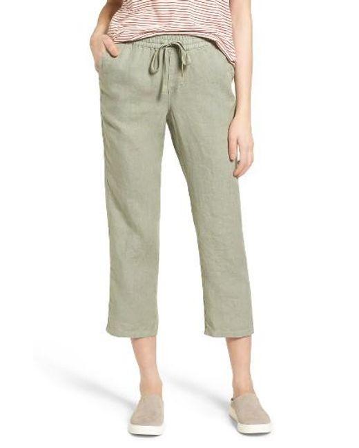 Caslon   Green Caslon Linen Crop Pants   Lyst
