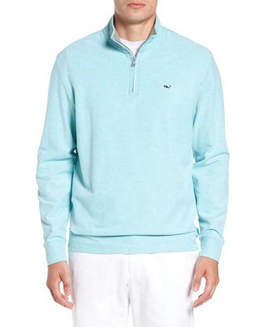 Vineyard Vines | Blue Reverse Oxford Quarter Zip Pullover for Men | Lyst