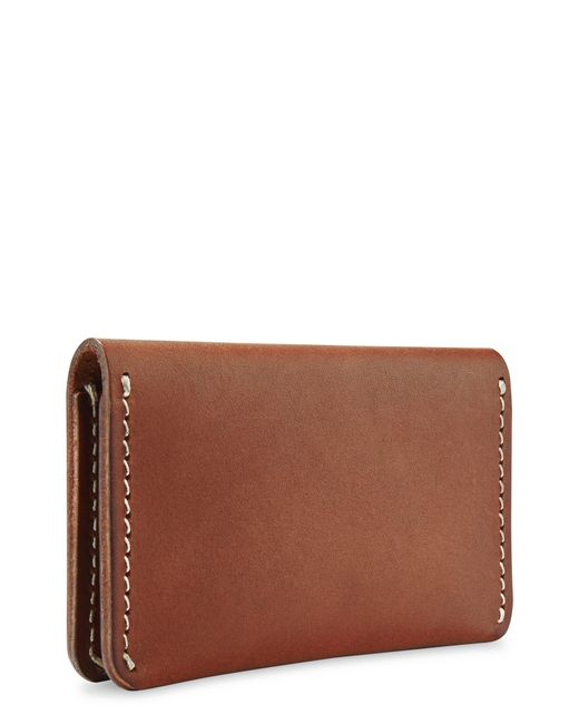 Red Wing Brown Leather Card Holder for men