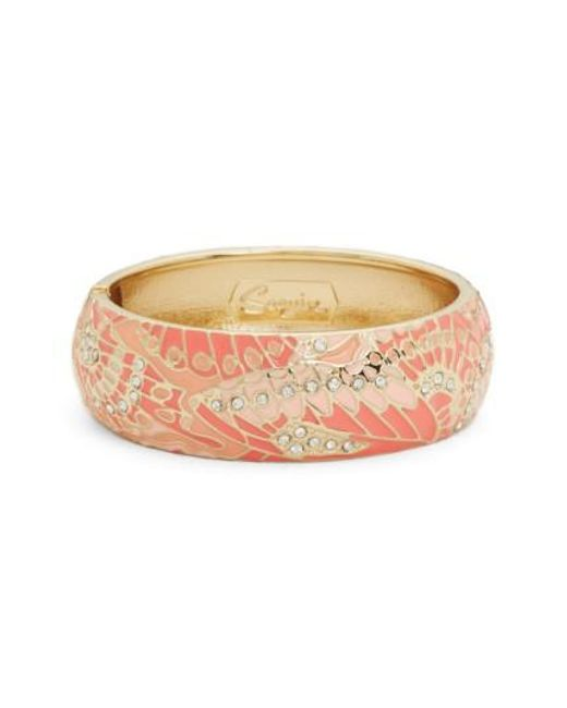 Sequin   Pink Mariposa Wide Bangle   Lyst