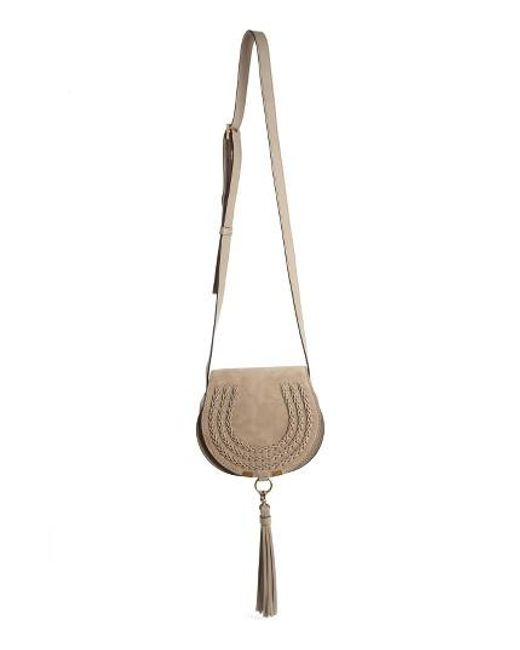 Chloé | Gray Marcie Mini Suede Shoulder Bag | Lyst