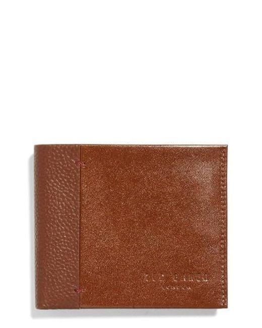 Ted Baker | Brown Splitz Leather Wallet for Men | Lyst