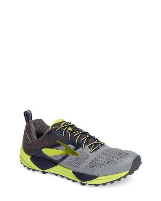 Brooks   Gray Cascadia 12 Trail Running Shoe for Men   Lyst
