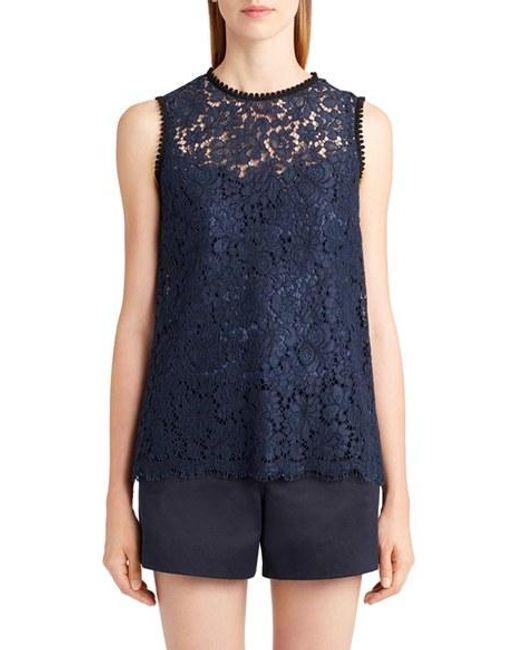 Dolce & Gabbana | Blue Lace Top | Lyst