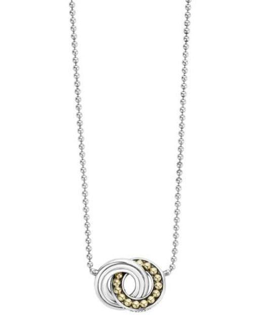 Lagos | Metallic Enso Pendant Necklace | Lyst