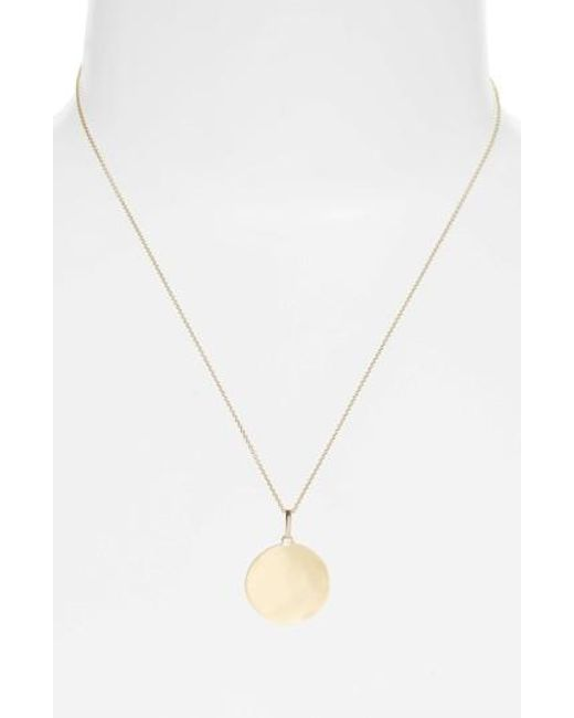 Bony Levy | Metallic Concave Large Pendant Necklace (nordstrom Exclusive) | Lyst