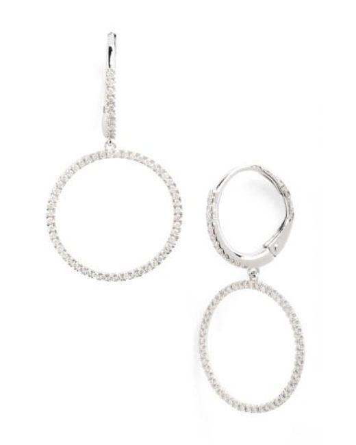 Bony Levy | White Diamond Frontal Hoop Earrings (nordstrom Exclusive) | Lyst