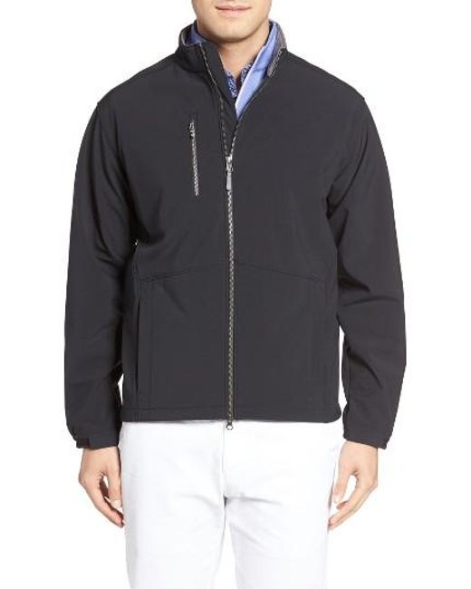 Peter millar anchorage golf jacket in black for men lyst for Peter millar women s golf shirts