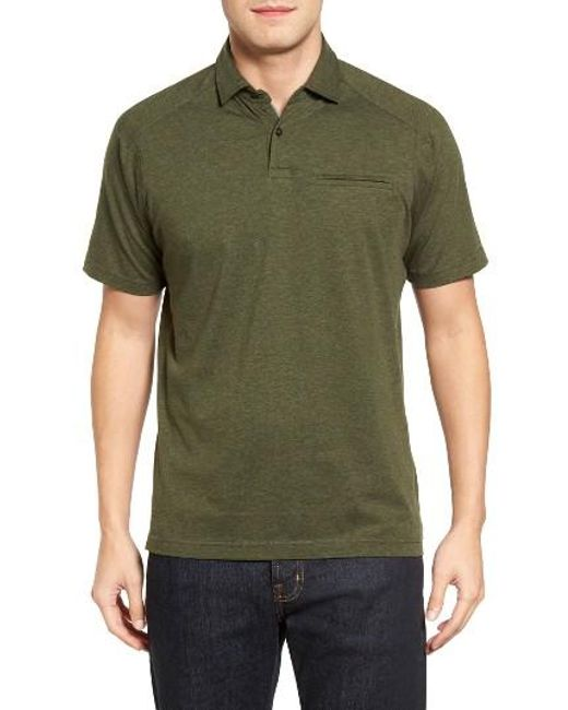 Maker Company Featherweight Polo In Black For Men Save