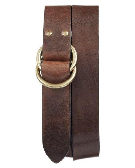 Frye | Brown Harness Leather Belt | Lyst
