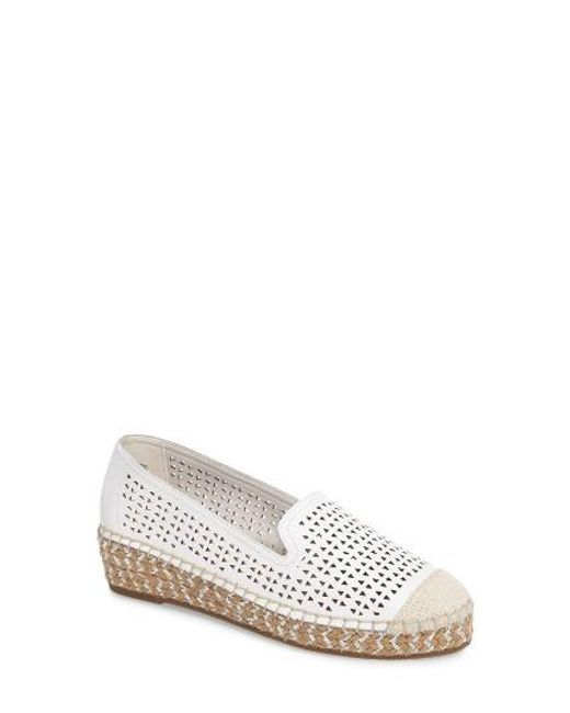 Bella Vita | White Channing Cutout Espadrille Loafer | Lyst