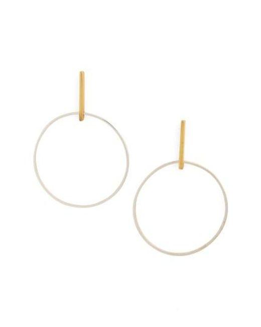 Argento Vivo | Metallic Front Hoop Earrings | Lyst