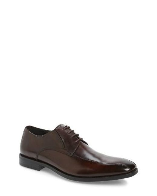 Kenneth Cole | Brown Extra Ticket Bike Toe Derby for Men | Lyst