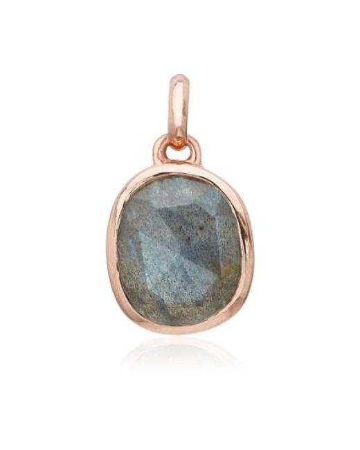 Monica Vinader | Metallic Siren Semiprecious Stone Pendant | Lyst