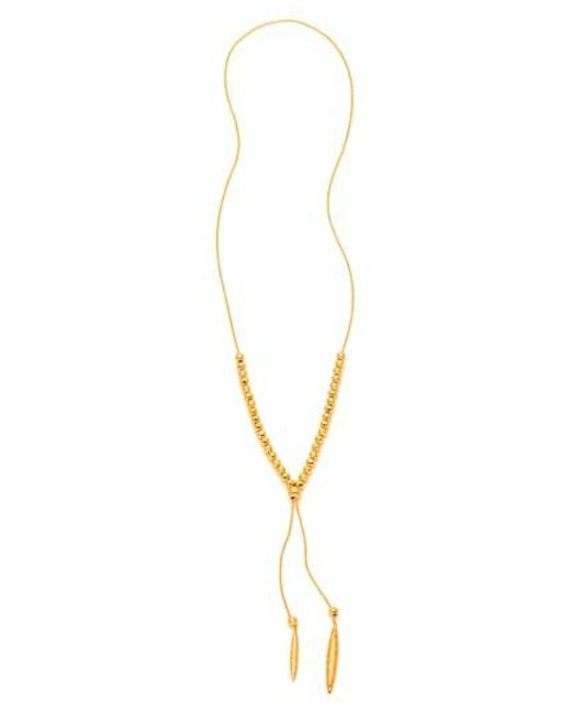Gorjana   Metallic Laguna Large Adjustable Lariat Necklace   Lyst