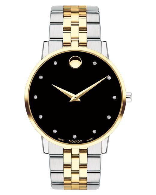 Movado - Metallic Museum Diamond Bracelet Watch - Lyst