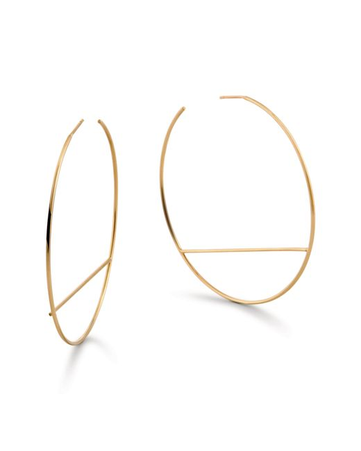 Lana Jewelry - Metallic Wire Eclipse Hoop Earrings - Lyst