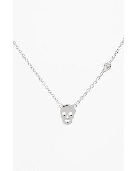 Shy By Sydney Evan   Metallic Skull Necklace   Lyst