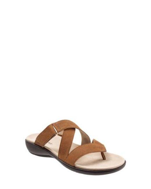 Trotters | Brown Komet Thong Sandal | Lyst
