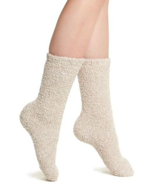 Barefoot Dreams | Natural Barefoot Dreams Cozychic Socks | Lyst