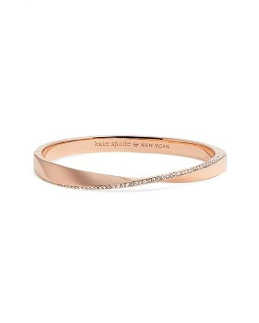 Kate Spade | Metallic Do The Twist Pave Bangle | Lyst