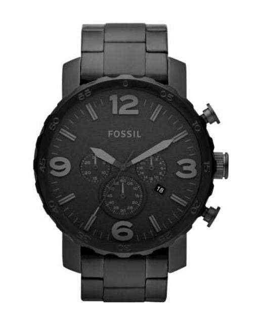 Fossil | Black 'nate' Chronograph Bracelet Watch for Men | Lyst