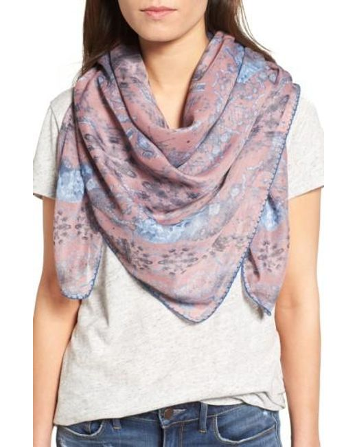 Treasure & Bond | Pink Prism Medallion Square Scarf | Lyst
