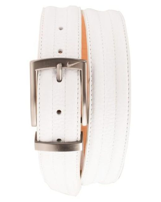 Nike | White Golf 'g-flex Tripunto' Leather Belt for Men | Lyst