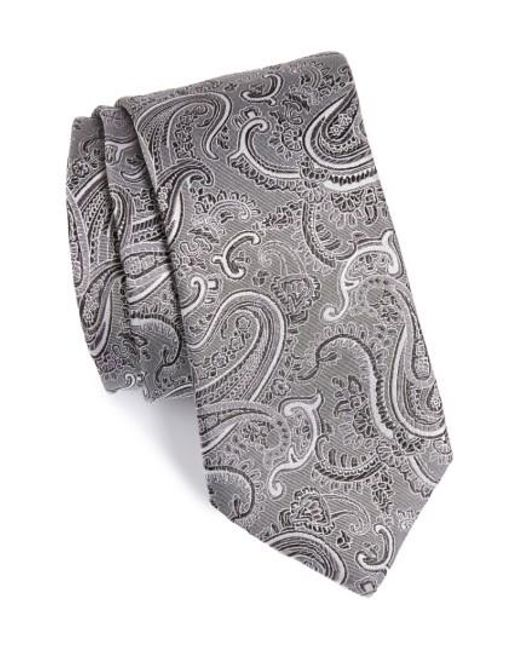 Calibrate | Black Floating Paisley Silk Tie for Men | Lyst