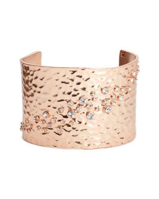 Karine Sultan   Pink Lou Embellished Cuff   Lyst