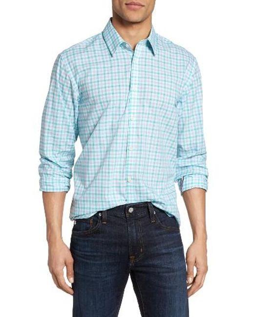 Jeremy Argyle Nyc   Blue Comfort Fit Plaid Sport Shirt for Men   Lyst