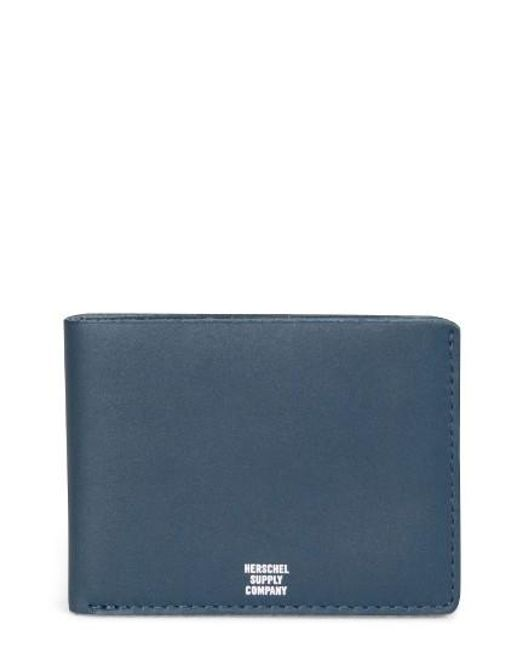 Herschel Supply Co. | Blue Miles Leather Wallet for Men | Lyst