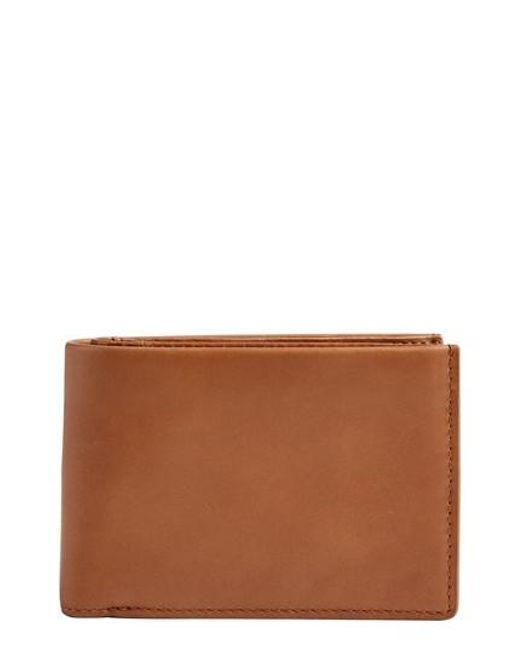 Skagen   Brown International Leather Bifold Wallet for Men   Lyst