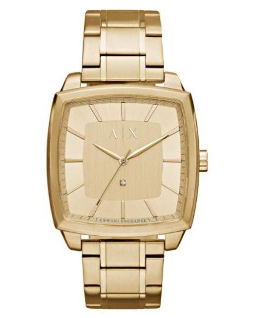 Armani Exchange | Metallic Square Bracelet Watch | Lyst