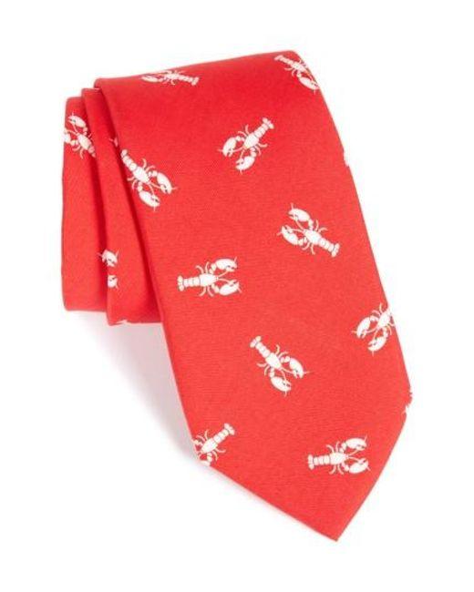 Vineyard Vines | Red Lobster Silk Tie for Men | Lyst