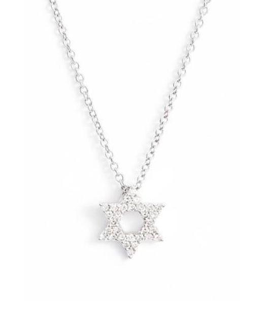 Bony Levy | Metallic Star Of David Diamond Pendant Necklace (nordstrom Exclusive) | Lyst