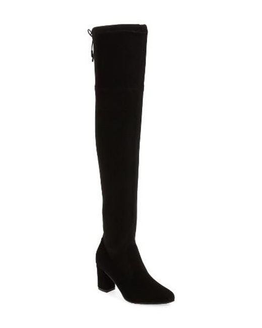 Blondo Taras Over The Knee Waterproof Boot in Black | Lyst